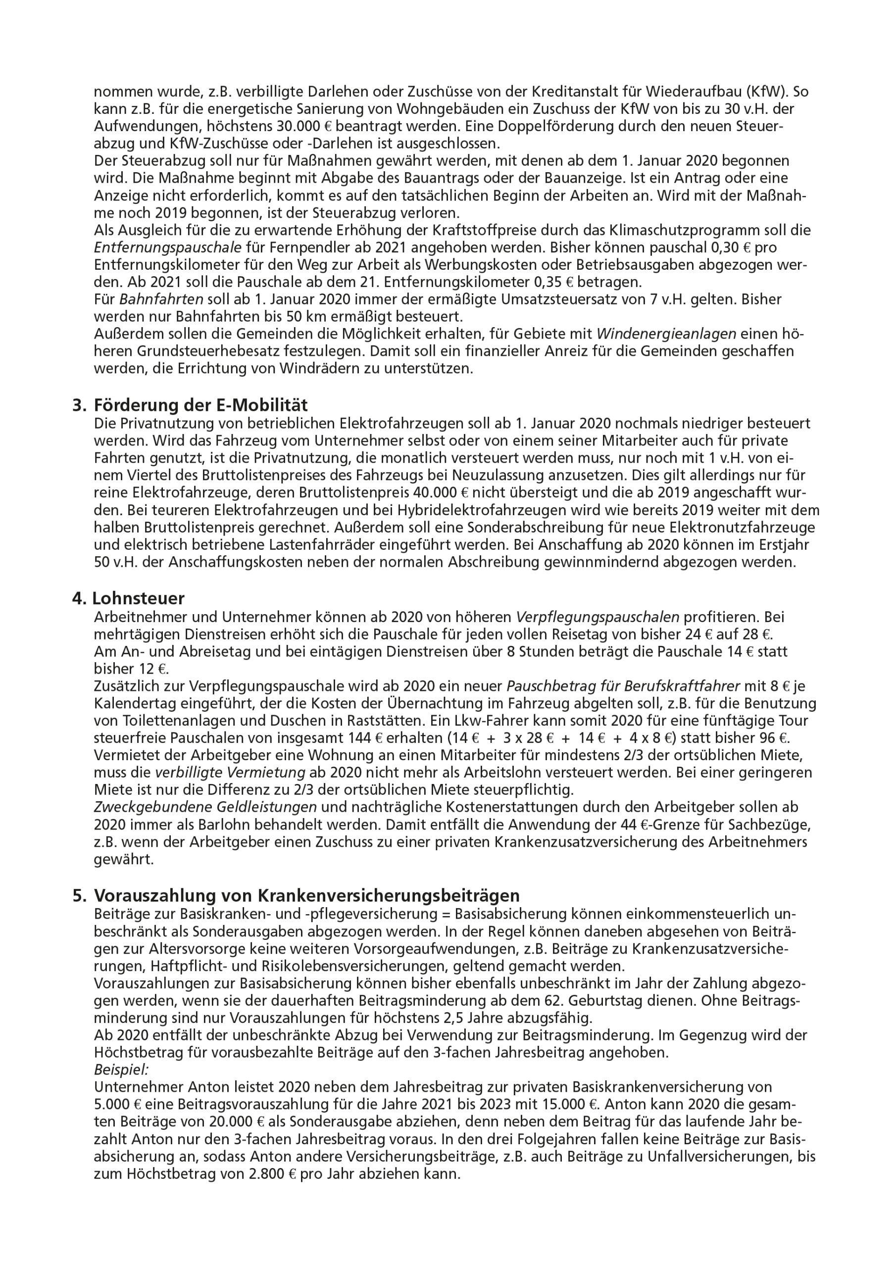 js-tax Steuerberatung Mandantenrundschreiben 2019-12 S2