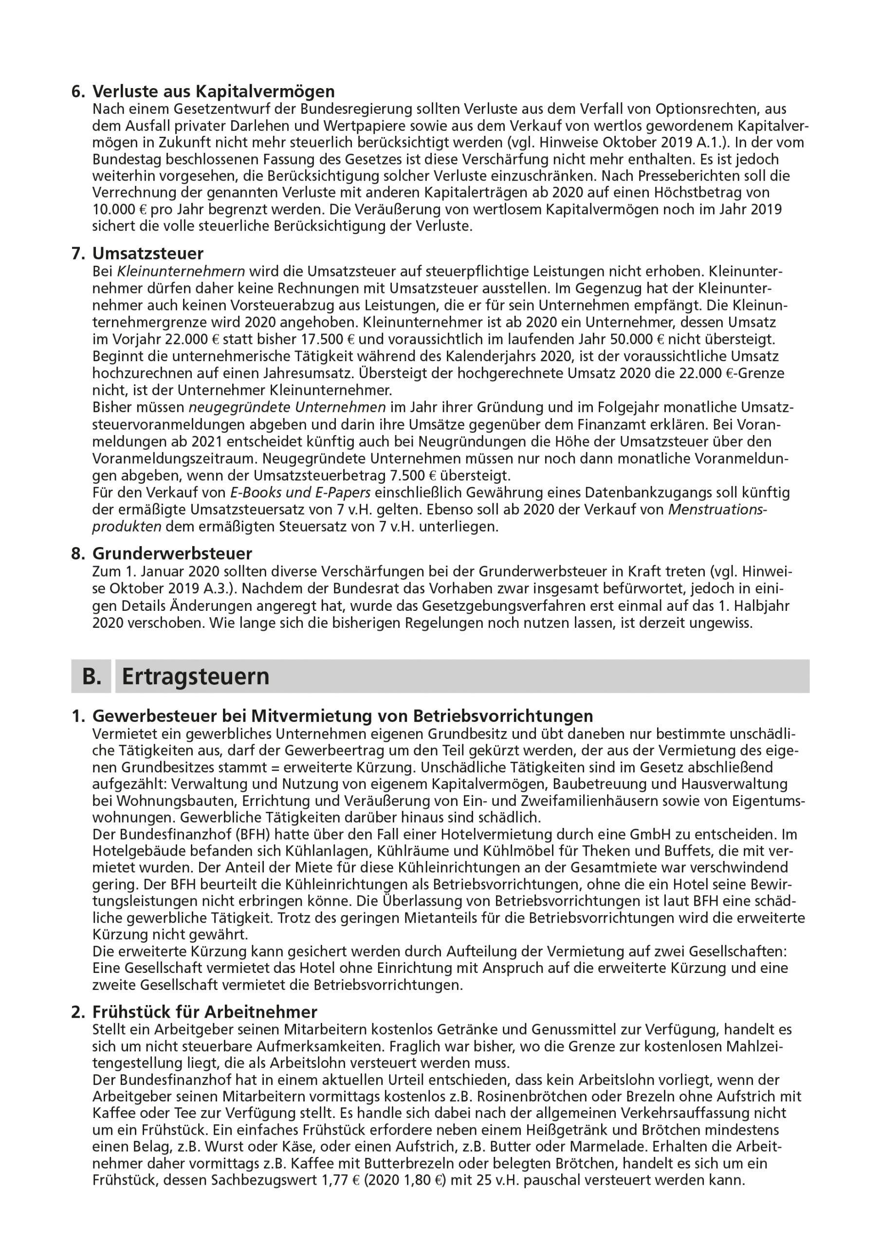 js-tax Steuerberatung Mandantenrundschreiben 2019-12 S3