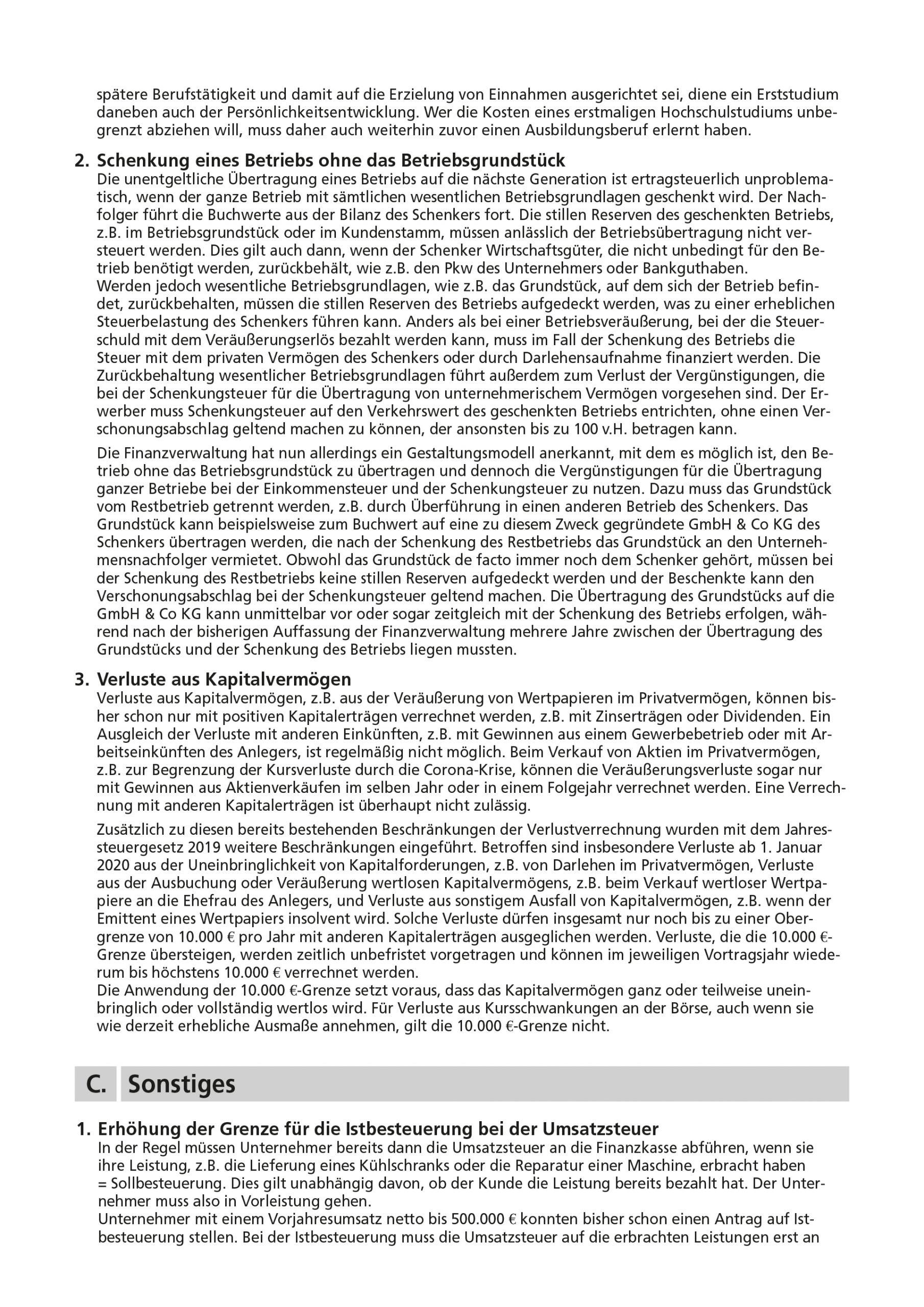 js-tax Steuerberatung Mandantenrundschreiben 2020-04 S5